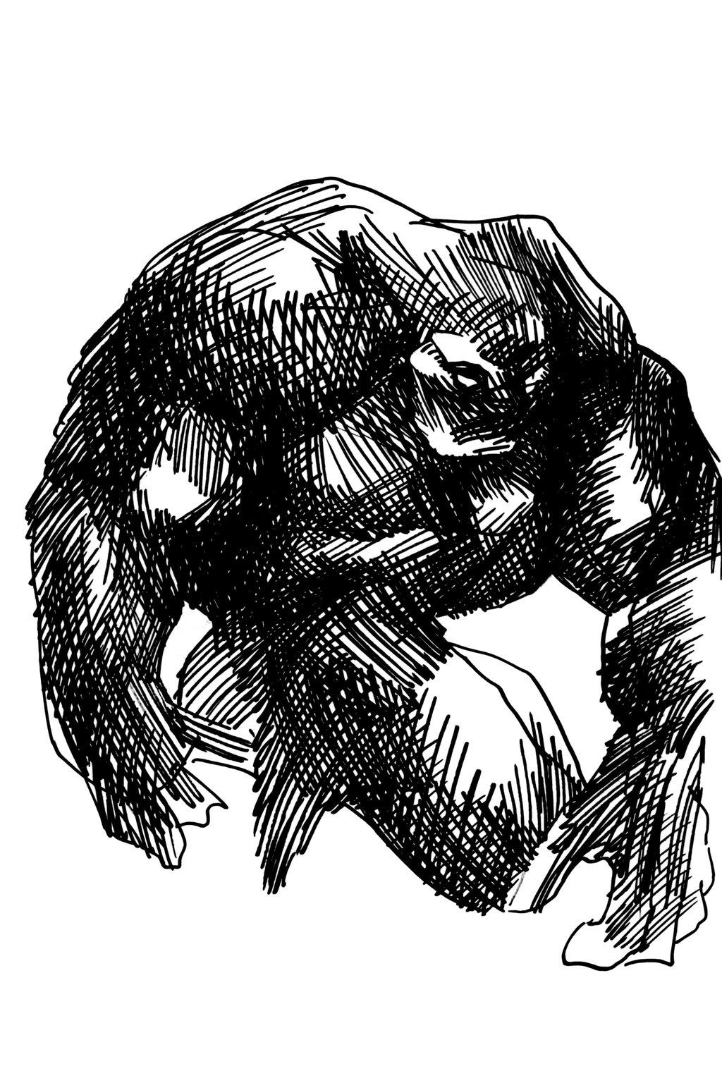 1024x1536 Alien Cross Hatch Sketch By Tadashi Station