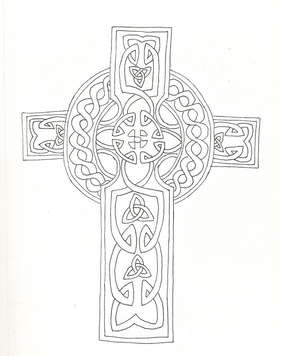 900x1137 Celtic Cross By Kattiger