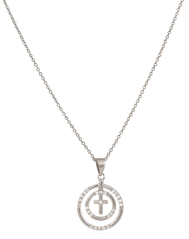 792x1000 Silversmiths Women's Multi Round Cross Necklace