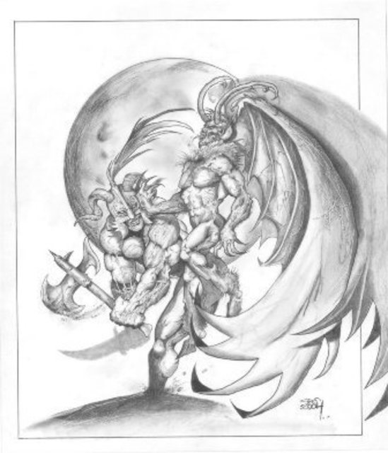 549x640 Grant Cross Artwork Three Original Drawing Pencil Fantasy Art