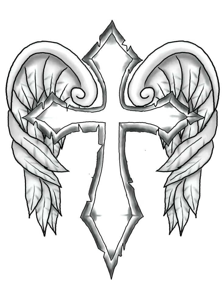 736x976 Improved Pictures Of Crosses To Color Drawn Cross Coloring Page