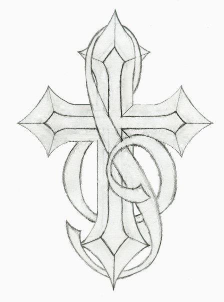 448x603 Cross Tattoo With Music Notes Music Note Tattoo Sketches Pic