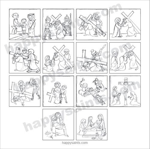 500x499 Happy Saints Way Of The Cross Sketches