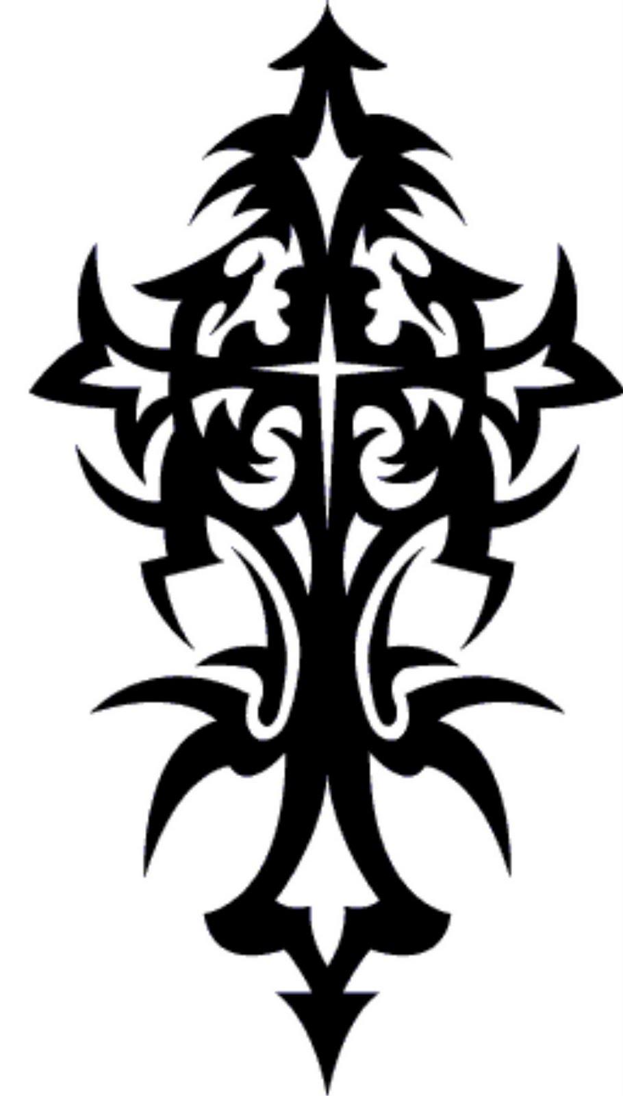 910x1600 8 Tribal Cross Tattoo Designs And Stencils