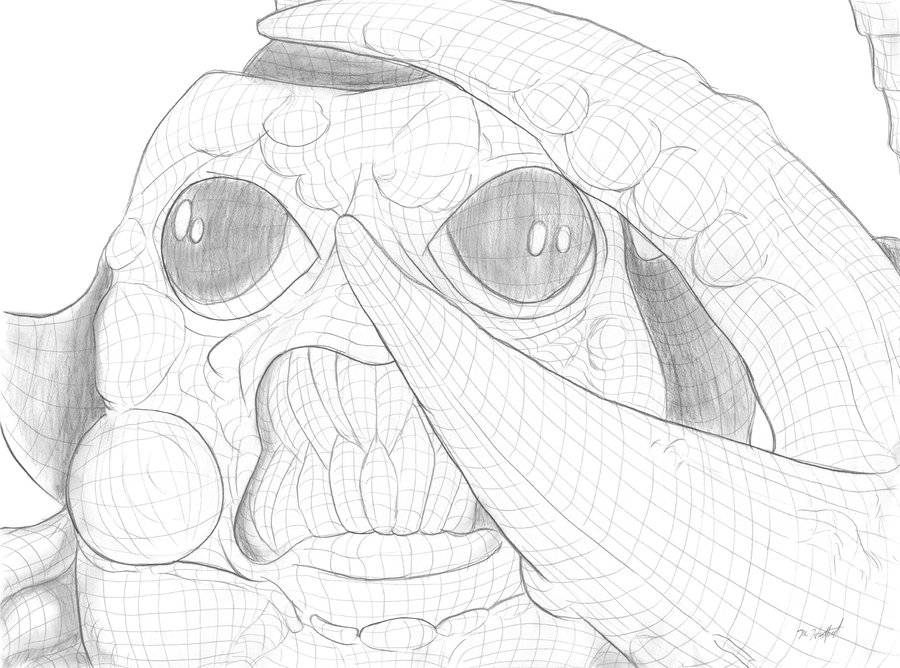 900x668 Cross Contour Sketch Slobster By Omniferous