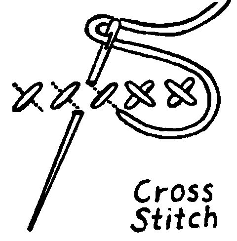 Cross Stitch Drawing At Getdrawings Free For Personal Use