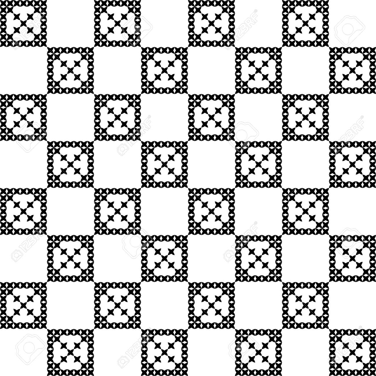 1300x1300 Seamless Embroidered Texture Of Abstract Flat Patterns, Cross