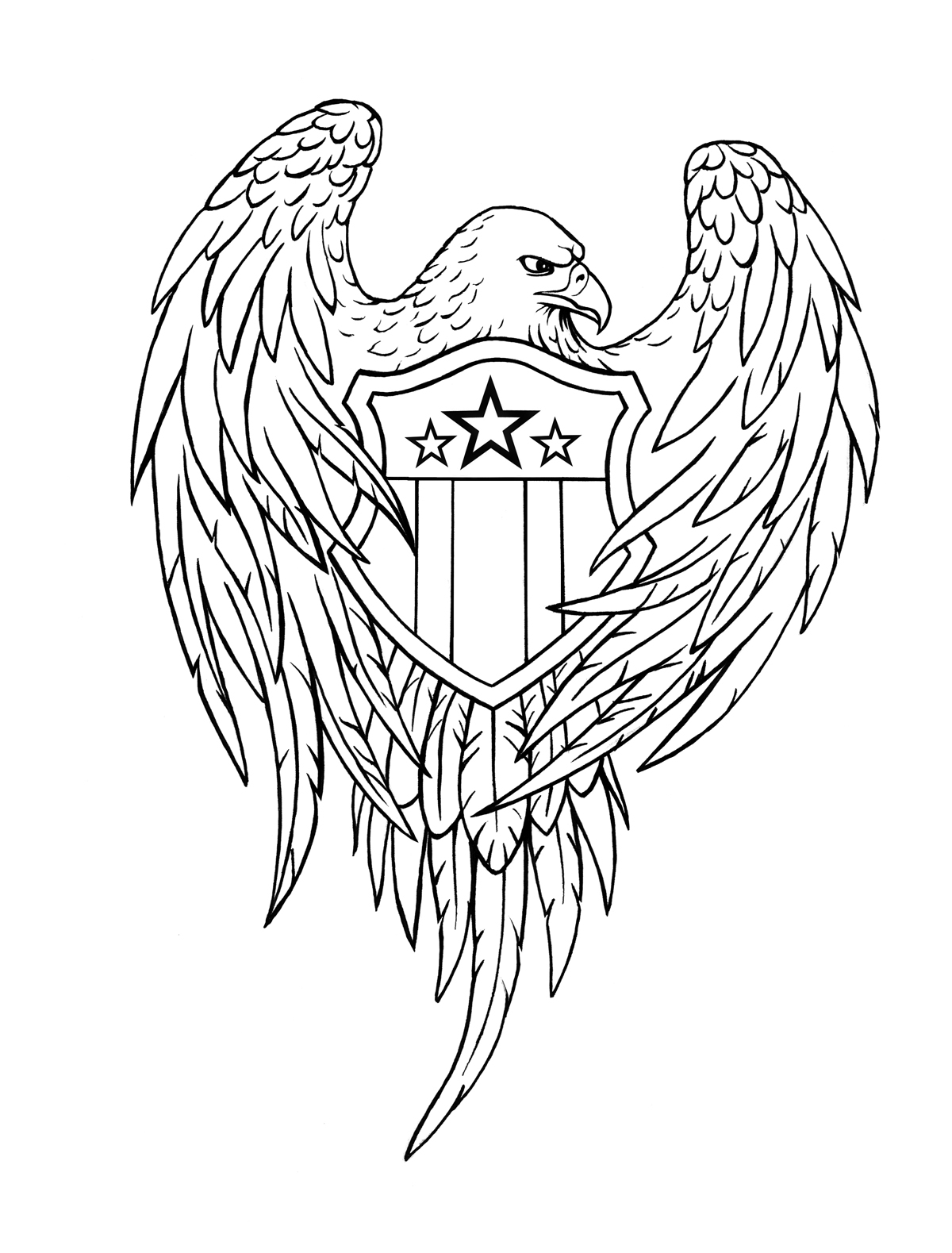 1200x1579 Collection Of Eagle Cross Banner Tattoo Design