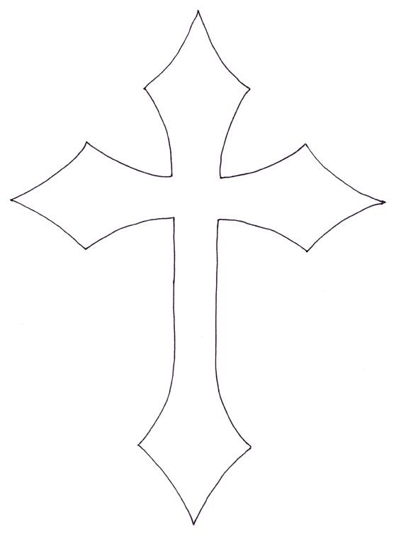 559x757 Painted Cross Cliparts