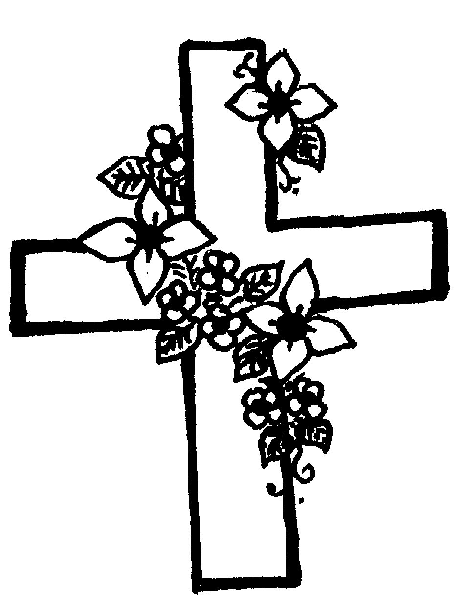 957x1239 Drawings Of Crosses With Flowers Cross Flowers Cliparts Free