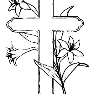 300x300 How To Draw Cross Coloring Page Coloring Sun
