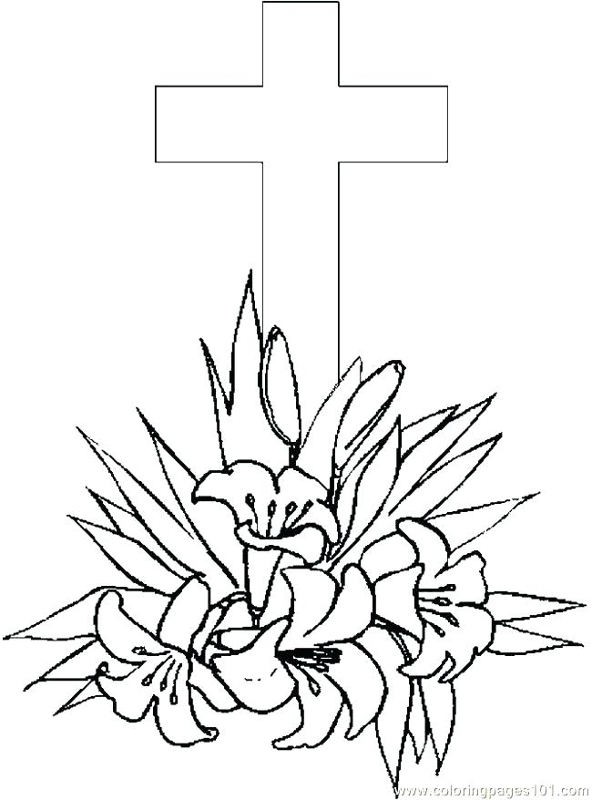 650x878 Cross Color Page Cross Flowers Coloring Pages Cross Coloring