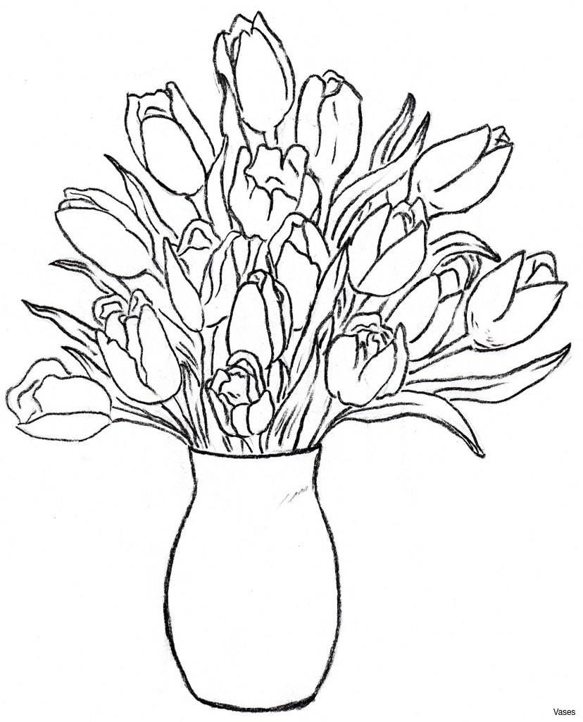 828x1024 Beautiful Flower Vase With Flowers Drawing Pretty Coloring Pages