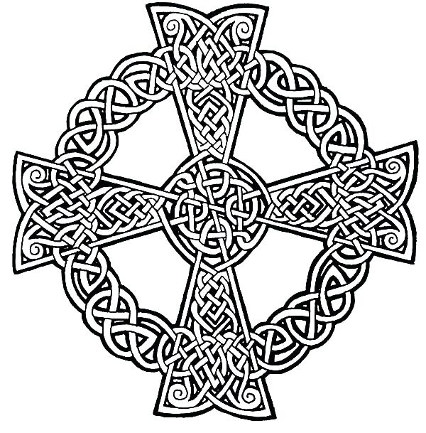 600x609 Coloring Pages Of Crosses Cross Drawings Coloring Pages Crosses