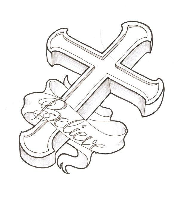 600x664 Cross By Thingthatcandoit