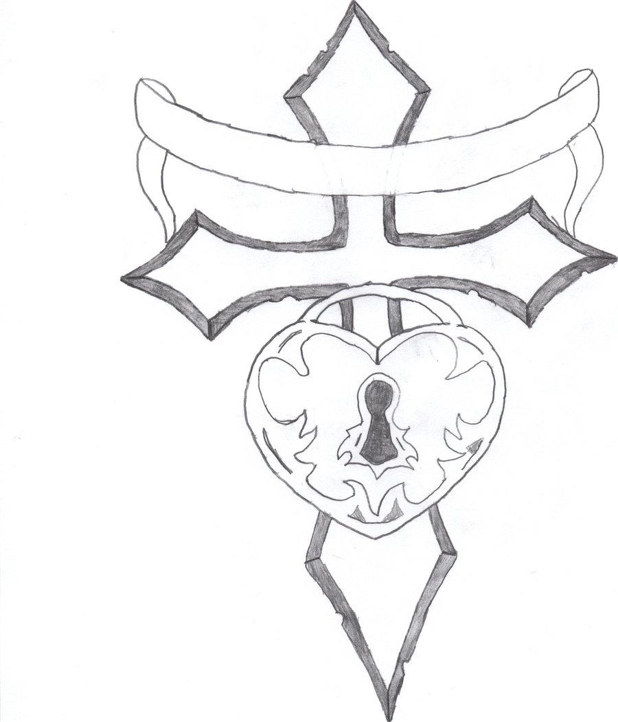 900x1051 Cross Of Love Locked By Ninetail57