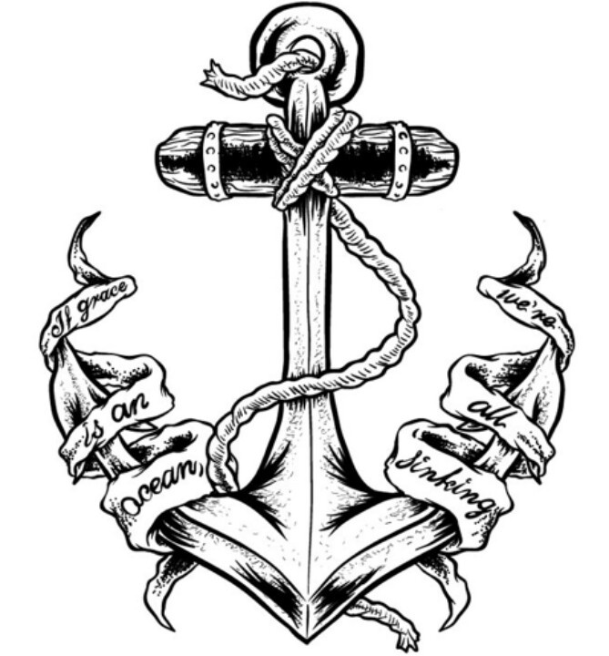 669x720 Anchor Cross Tattoos Collection