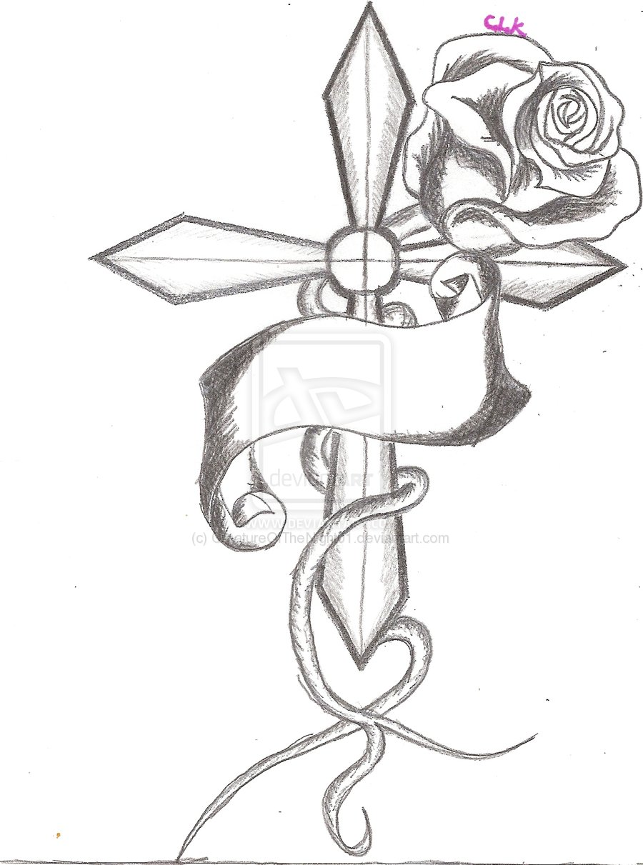 900x1211 Images Cross With Roses Drawing Home Decor Modern Ideas