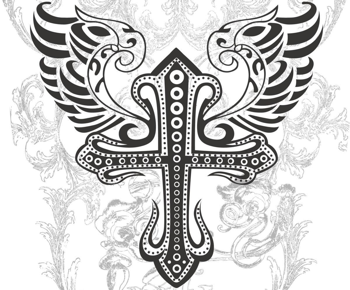 1200x997 These Cross Tattoos With Wings Are Sure To Look Uniquely Ethereal