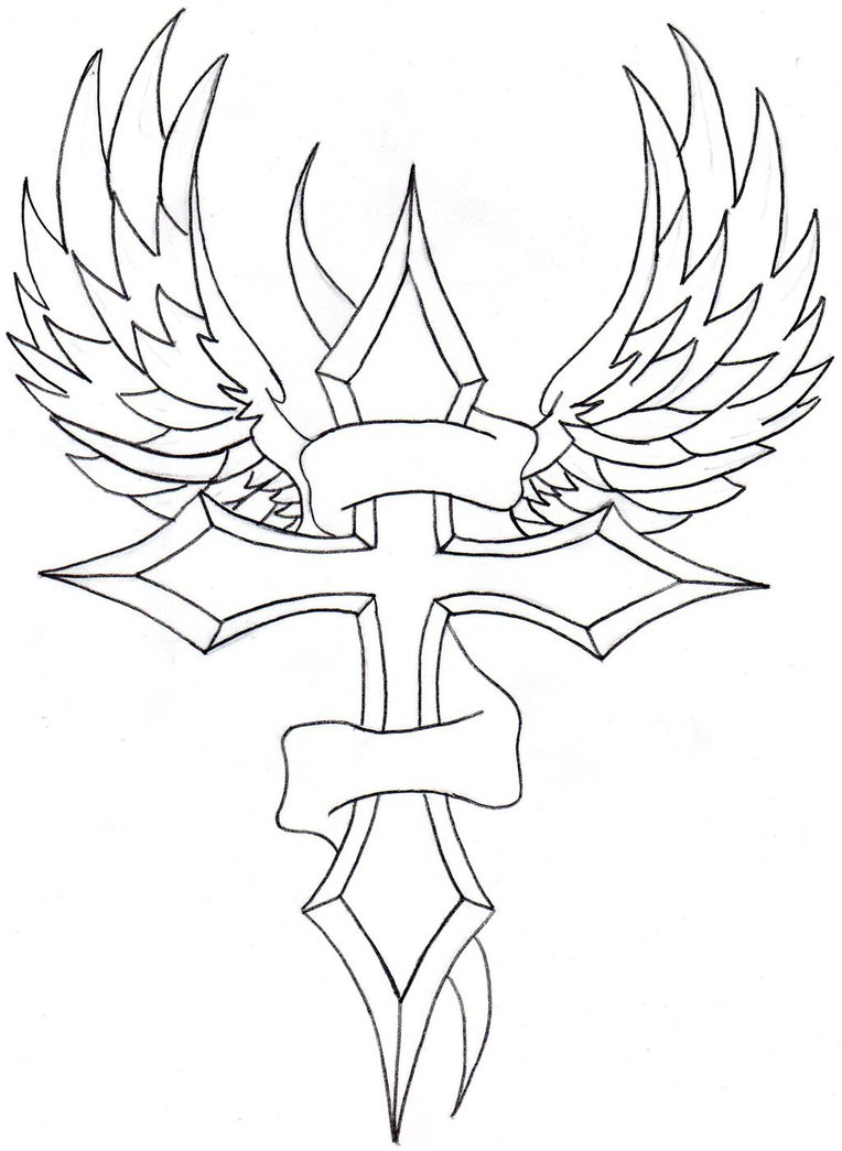 764x1045 Winged Cross And Banner By Dannyj321