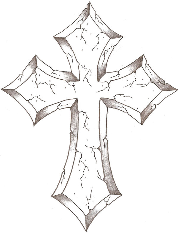 600x786 Best Photos Of Drawings Of Crosses