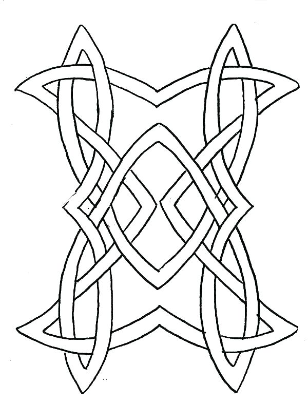 600x785 Coloring Pages Crosses Knot Cross Design With Wings