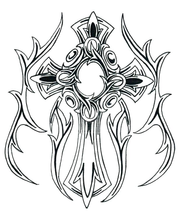 Crosses With Roses Drawing at GetDrawings.com | Free for ...