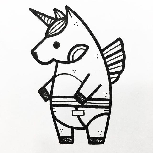 640x640 Unicorn, By Hugo Tattooer Blackwork Hugotattooer Dotwork