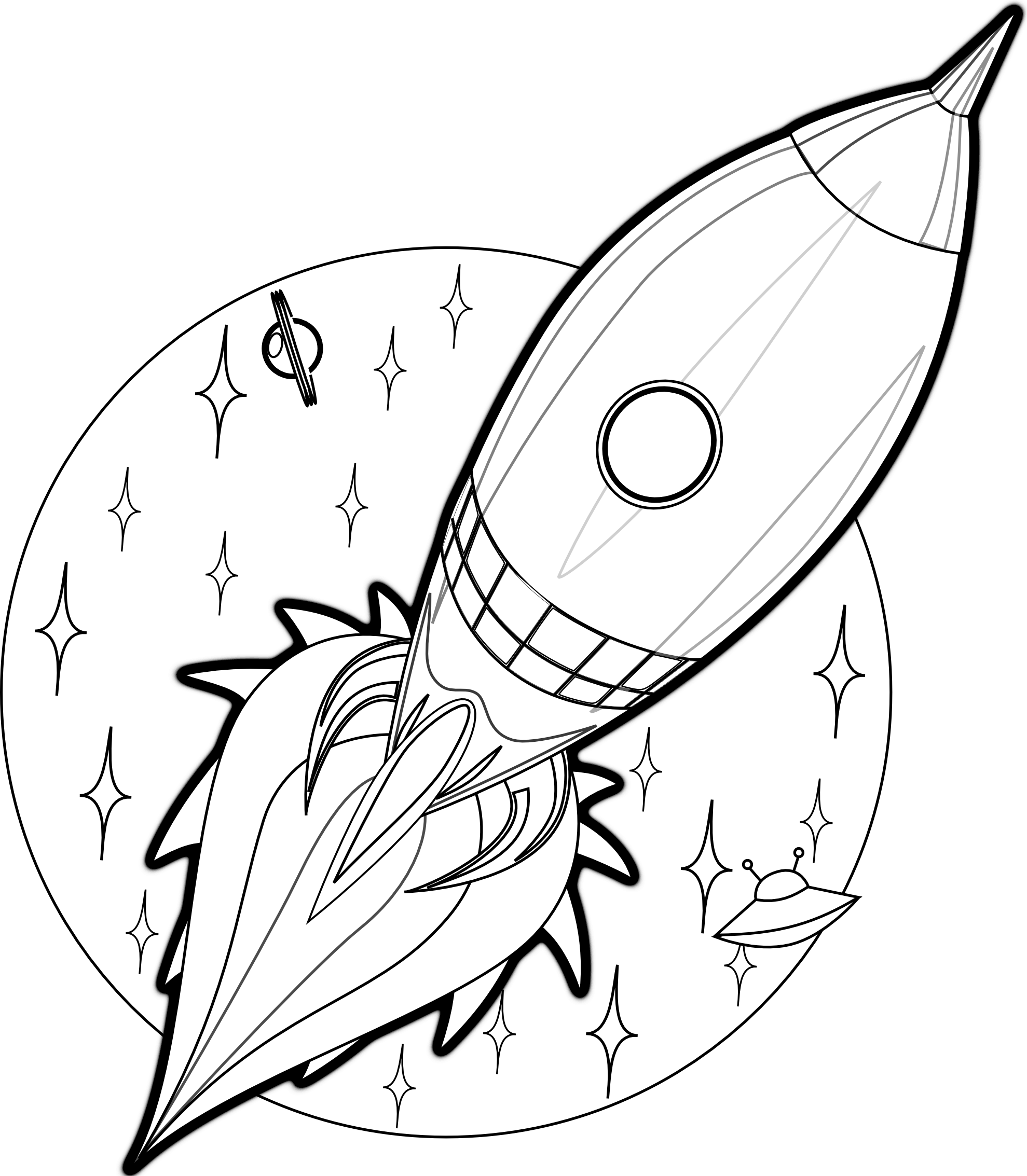 1979x2267 Superior Rocket Coloring Pages 36 Rockets And Astronaut