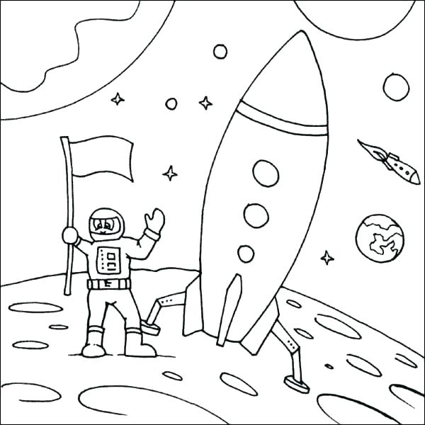 600x600 Rocket Coloring Pages