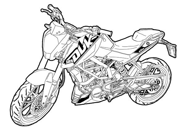 600x424 Sketch Ktm Duke 200