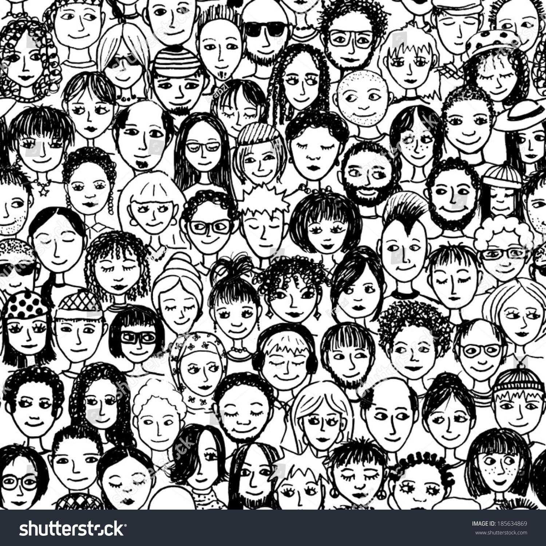 1500x1500 Drawn Crowd Croud