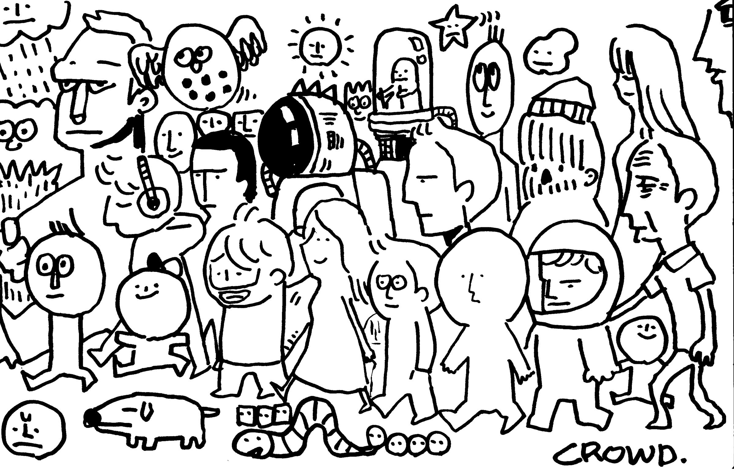 2400x1540 Happy Drawing] 1 Page Doodle