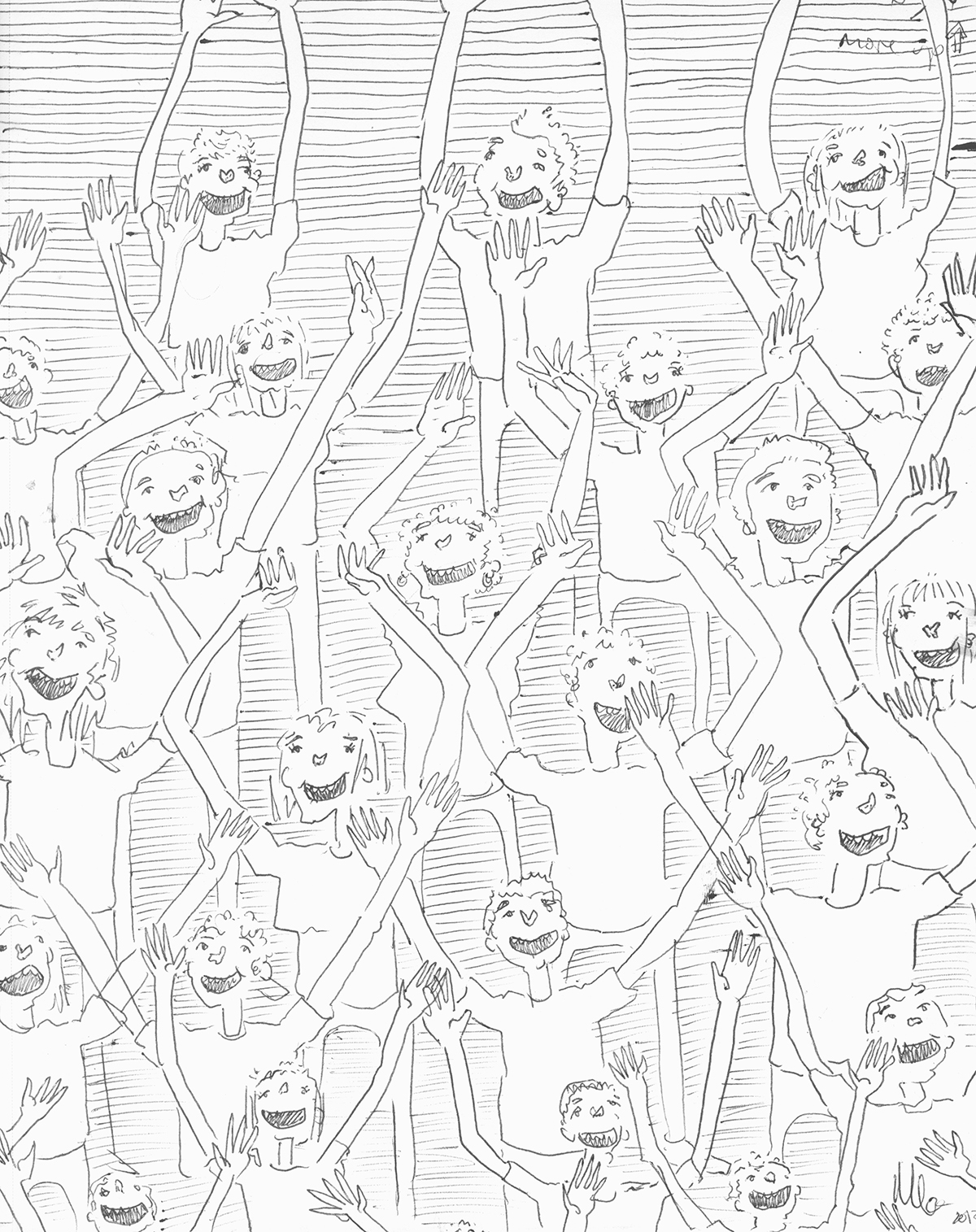 1200x1515 M.m.gaman Sketchbook 798 Crowd Study