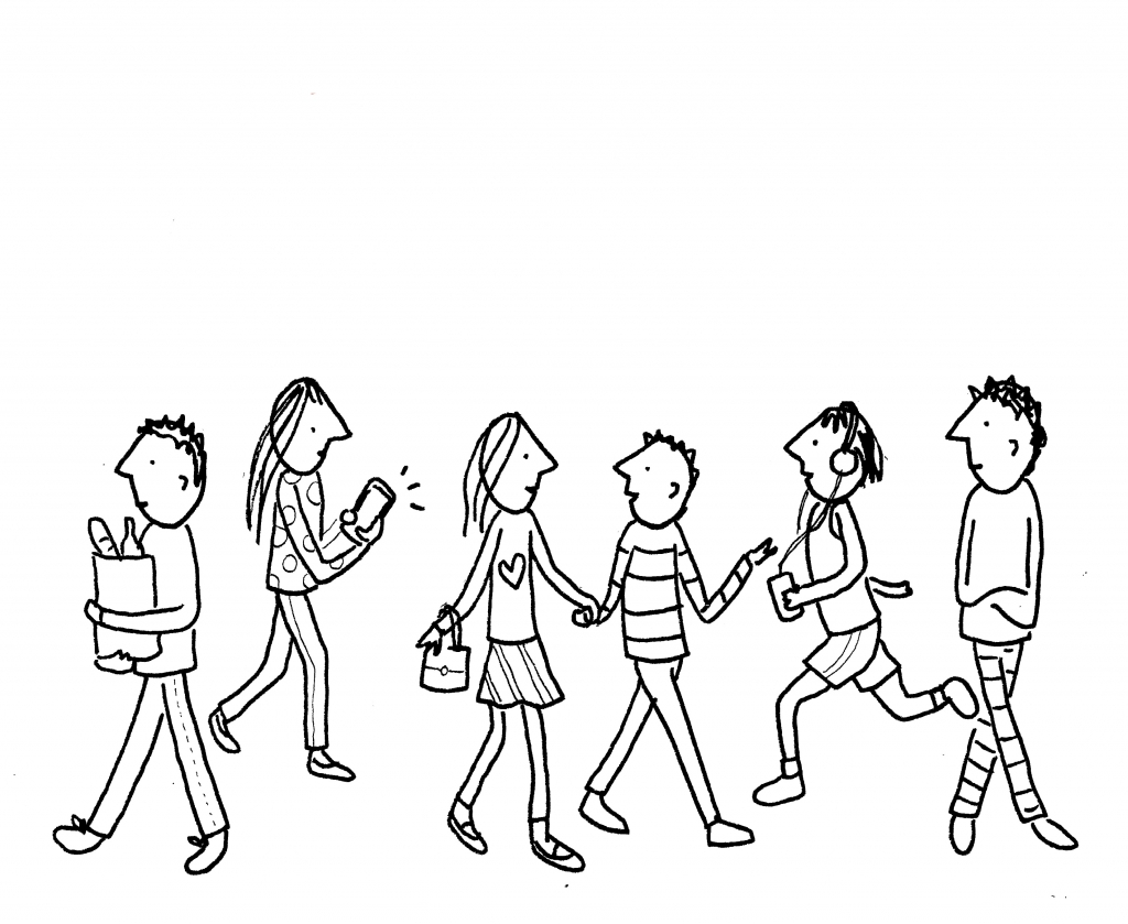 1024x839 Simple Drawings Of People How To Draw A Crowd Of People In 3 Steps
