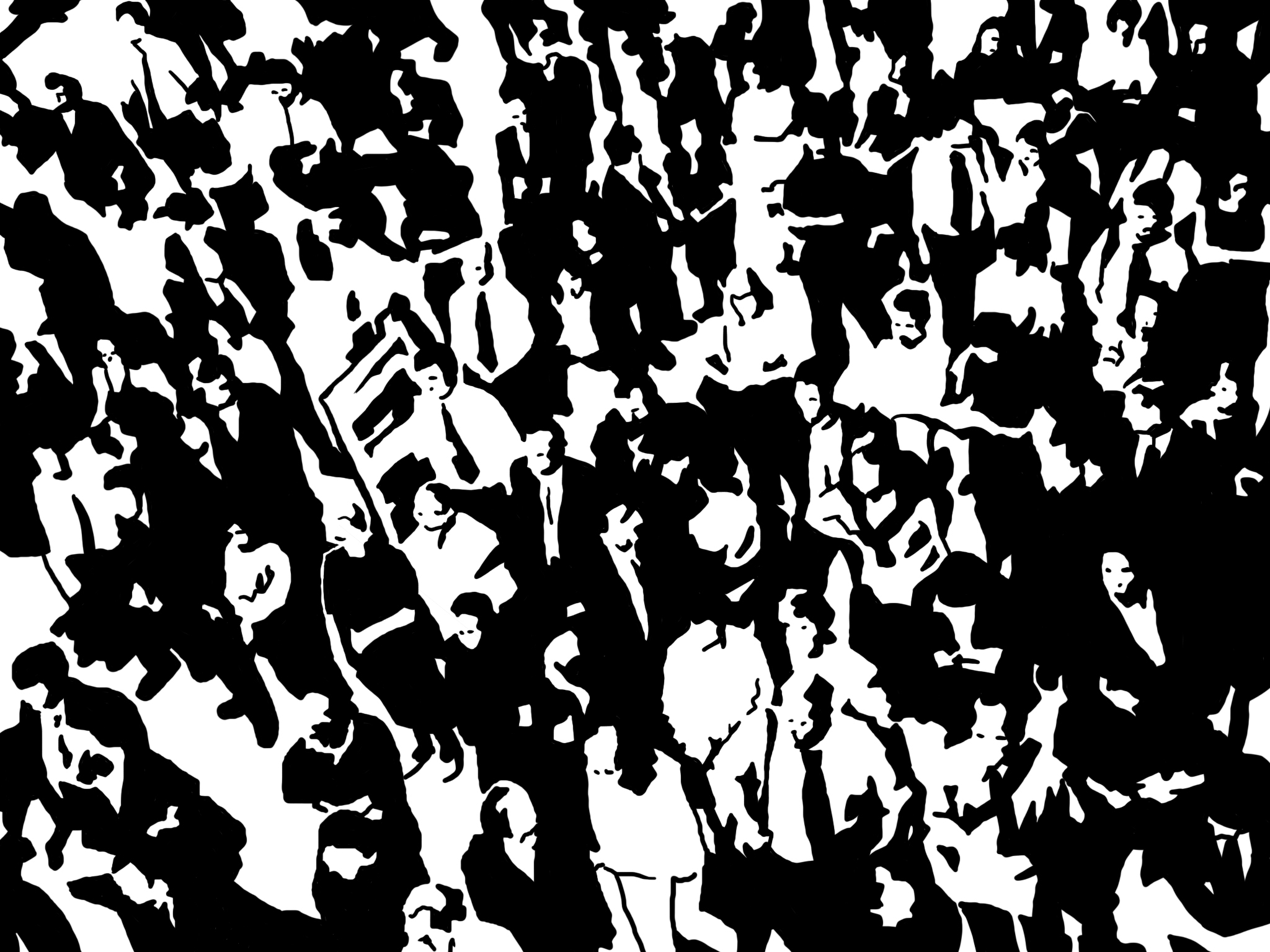 2048x1536 Crowd Everything Is Wild
