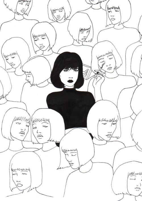 500x707 Crowd Drawing Tumblr