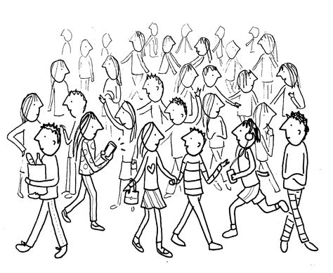 474x388 How To Draw A Crowd Of People Share Free Art Lessons