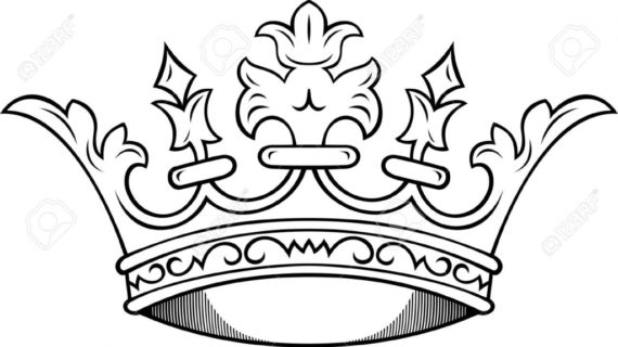 570x320 How To Draw A Crown Simple King Crown Drawing Clipartsco