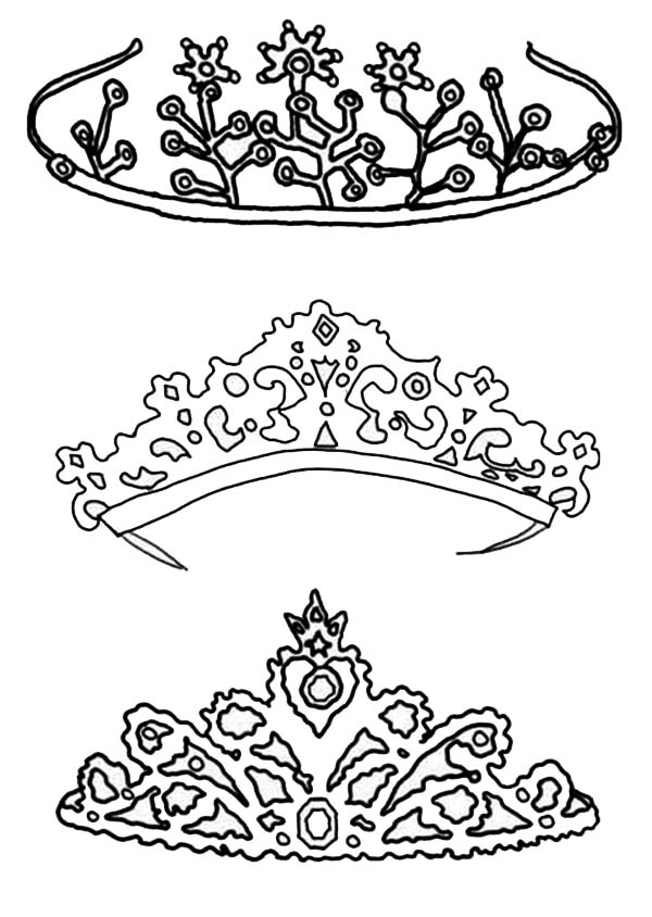 600x844 Type Of Princess Crown Coloring Page