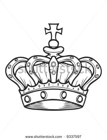 360x470 Crown Tattoo Stencil Group