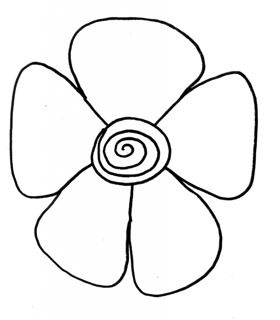 896x1024 Easy Flower Sketches Easy Flower Sketches Clipart Best