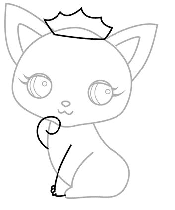 353x423 How To Draw A Cat Step By Step Tutorials