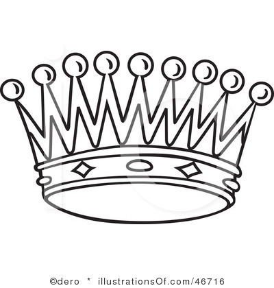 400x420 Crown Clipart Line Drawing