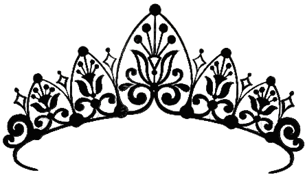 444x256 Elegant Crown Clipart Black And White Princess Crown Drawings