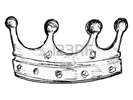 450x338 Hand Drawn, Vector, Sketch Illustration Of Crown Royalty Free