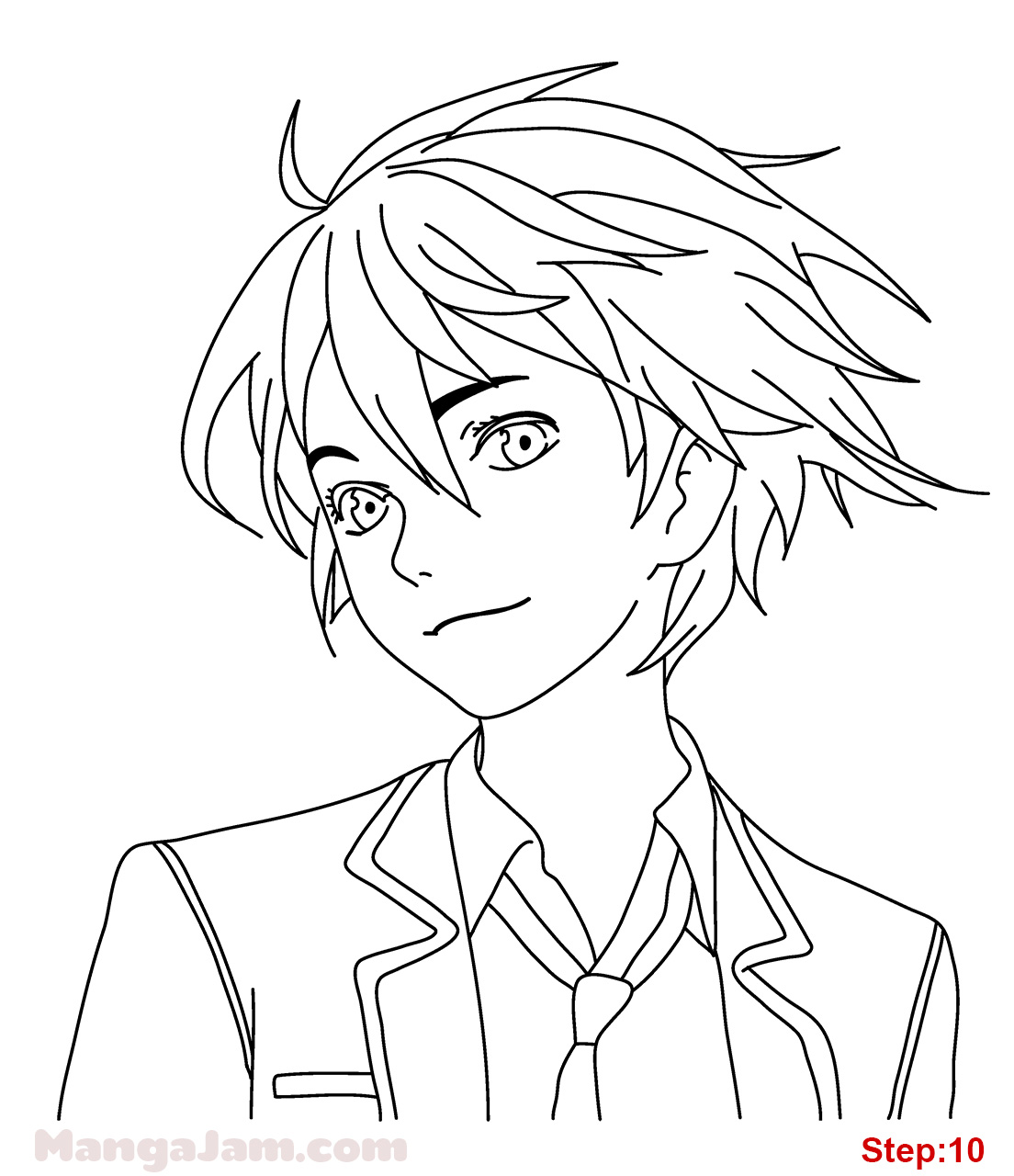 1104x1280 How To Draw Shu Ouma From Guilty Crown