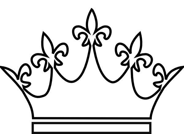 600x437 King And Queen Crowns Drawings