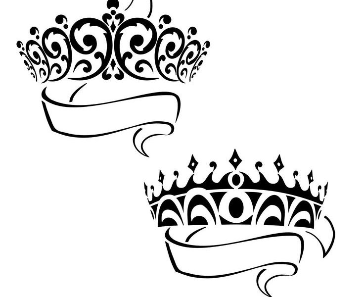 736x600 Download Simple 3 Point Crown Tattoo