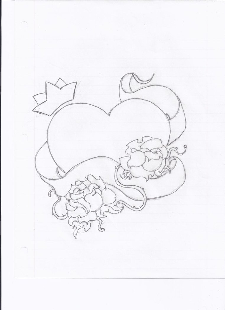 762x1048 Heart N Crown Tattoo By Johannabananabates